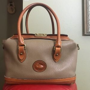 Dooney and Bourke vintage Doctor bag tan